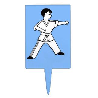 Karate Kid 5 artes marciales del primero azul clar Decoración De Tarta