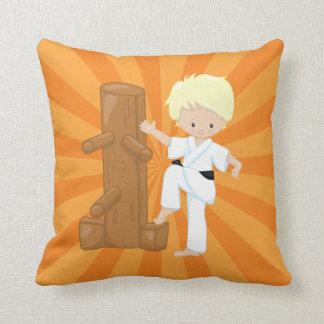Karate Kids Throw Pillow