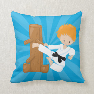 Karate Kids Throw Pillow