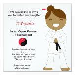 Karate Kids Tournament 5.25x5.25 Square Paper Invitation Card