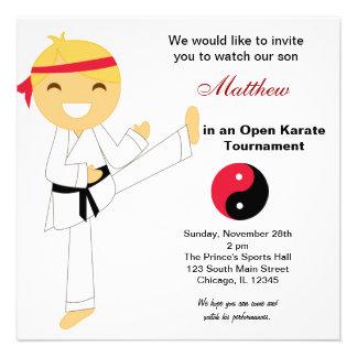 Karate Kids Tournament Personalized Invitation