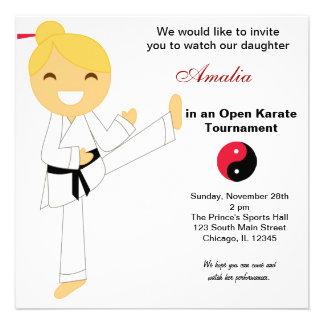 Karate Kids Tournament Personalized Invite