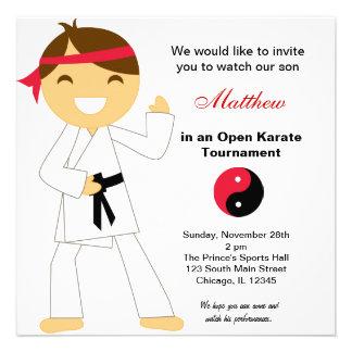 Karate Kids Tournament Invitations
