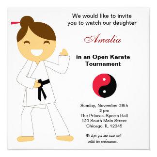 Karate Kids Tournament Custom Invite