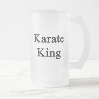 Karate King 16 Oz Frosted Glass Beer Mug