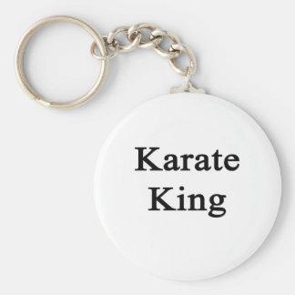 Karate King Basic Round Button Keychain
