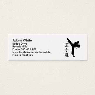 Karate Kung Fu Mini Business Card