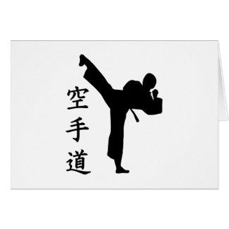 Karate Kung Fu Tarjeta
