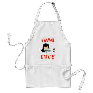 karate lindo del chibi de los artes marciales del  delantal