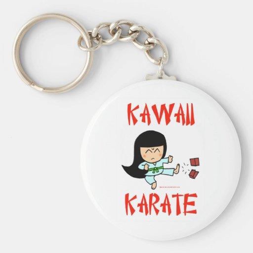 karate lindo del chibi de los artes marciales del  llavero