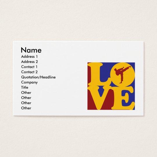 Karate Love Business Card