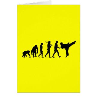 Karate lovers Dojo training gift Card