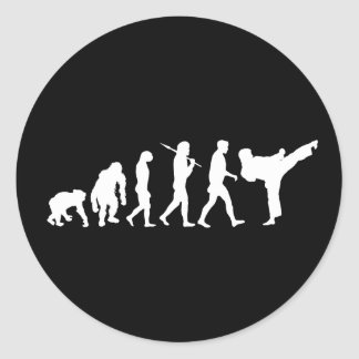 Karate lovers Dojo training gift Classic Round Sticker