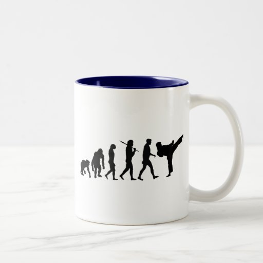 Karate lovers Dojo training gift Two-Tone Coffee Mug