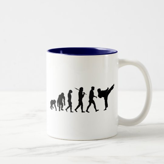 Karate lovers Dojo training gift Two-Tone Coffee Mug