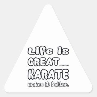 Karate Makes It Better Triangle Sticker