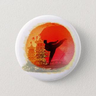 karate man Badge Pinback Button