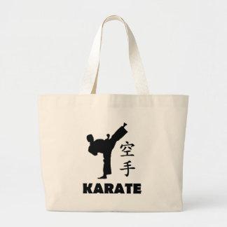 karate man chinese symbols icon tote bag