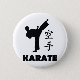 karate man chinese symbols icon pinback button