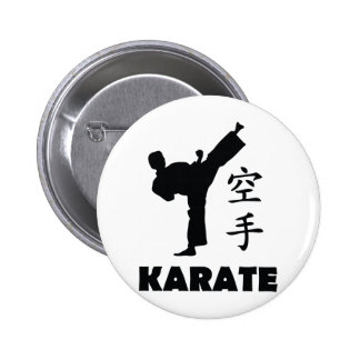 karate man chinese symbols icon pinback button