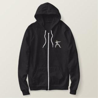 Karate Man Embroidered Hoodie