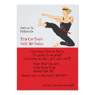 Karate Marshal Arts - Party Invitation