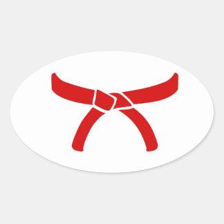 Karate Martial Arts belt Oval Sticker