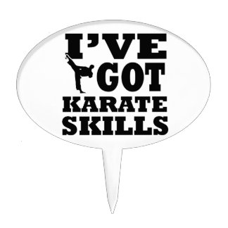 Karate Martial Arts designs Cake Toppers