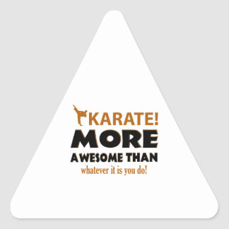Karate Martial arts gift items Triangle Sticker