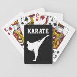 """Karate martial arts kid&#39;s Birthday party favor Playing Cards<br><div class=""""desc"""">Custom kid&#39;s karate martial arts Birthday party favor playing cards with black belt logo. Personalized game for boy or girl Birthday party celebration. Add your own name, funny quote or saying, slogan etc. Cool sporty template design for children, teacher, instructor, ninja coach etc. Black or custom color background. Also great...</div>"""