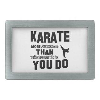 karate martial design belt buckles