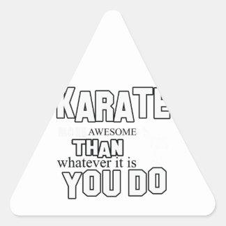 karate martial design triangle sticker