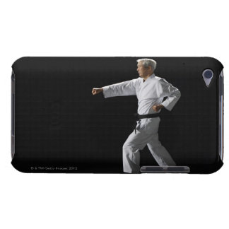 Karate master demonstrating, studio shot Case-Mate iPod touch case