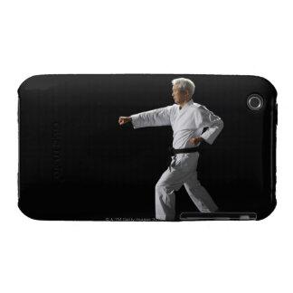Karate master demonstrating, studio shot iPhone 3 Case-Mate case