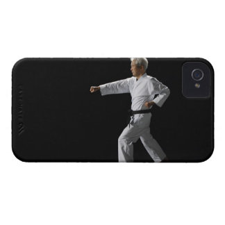 Karate master demonstrating, studio shot iPhone 4 case