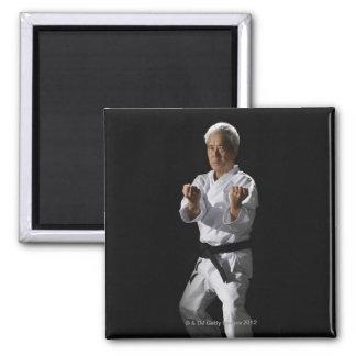 Karate master, portrait, studio shot 2 magnets