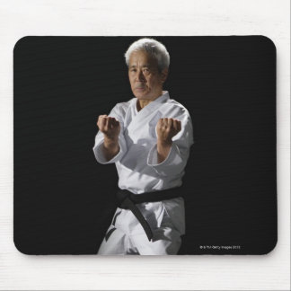 Karate master, portrait, studio shot 2 mouse pad