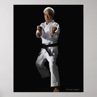 Karate master, portrait, studio shot 2 print