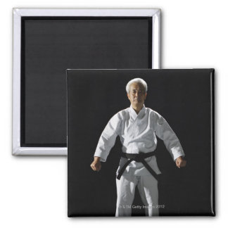 Karate master, portrait, studio shot refrigerator magnets