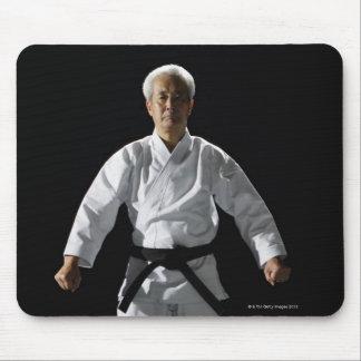Karate master, portrait, studio shot mouse pad
