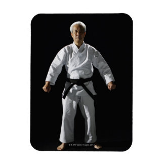 Karate master, portrait, studio shot rectangle magnet