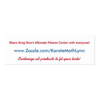 Karate Math Lynn Zazzle Business Card