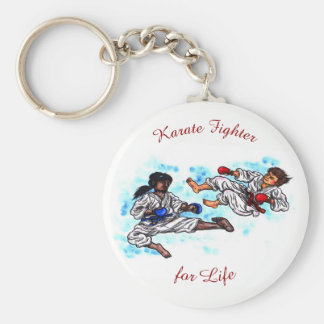 karate men fighting tournament battle keychain
