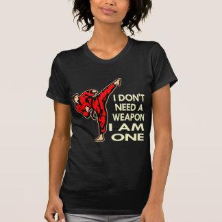 Karate, MMA, I AM A Weapon Tshirt