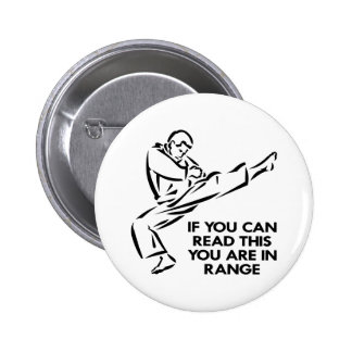 Karate, MMA, You ARE In Range Pins
