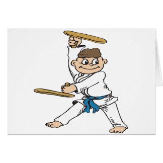 Karate-Muchacho Tarjeton
