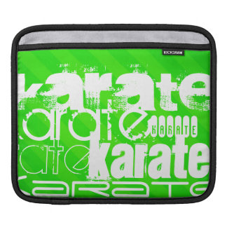 Karate; Neon Green Stripes iPad Sleeve