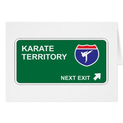 Karate Next Exit Card