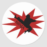 Karate Ninja Stickers