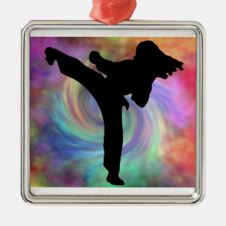 Karate Ornies Metal Ornament